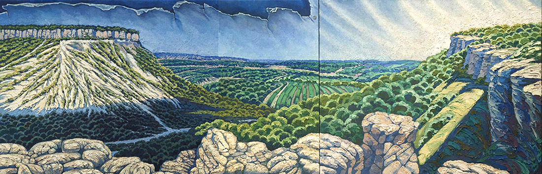 Margarita Siourina. On the Edge of the Earth. A Panorama of the Mountain Crimea (detail)