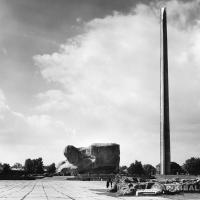 Панорама мемориального ансамбля Брестской крепости, Белоруссия, 1971 г.