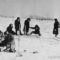 А.П. Кибальников на подледном лове в Подмосковье