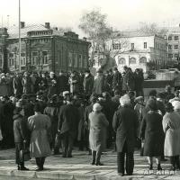 Открытие памятника К.А. Федину, Саратов, 1986 г.
