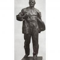 Рабочая модель памятника В.И. Ленина в Елабуге. 1980 г.