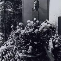 «Цветы поэту», на открытии надгробного памятника В. В. Маяковскому, 1957 г. .
