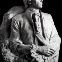 Портрет А. Н. Радищева. Мрамор, 130х95х121, Москва, 1953 г. Собственность скульптора