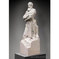 Первоначальный скульптурный эскиз памятника П. М. Третьякову. Гипс тонированный, высота 34, 1961 г. Фотография 2012 г. Собственность В. А. Кибальниковой