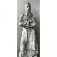 Фигура П. М. Третьякова. Гипс, 1961 г. Фотография из архива В. А. Кибальниковой.