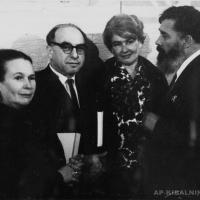 А.П. Кибальников и Б.Э, Ефимов с супругами.