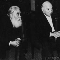 Члены Художественного совета А.П. Кибальников и Народным артистом СССР А. Грибовым