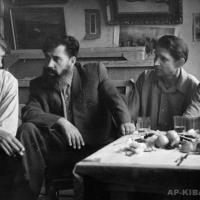 С саратовскими художниками, 1960-е гг.