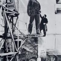 За работой над памятником В. В. Маяковскому,Москва, 1958 г.