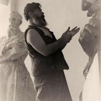 В мастерской на Верхней Масловке, 1961 г.