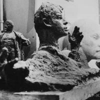 За работой над образом С. Есенина. Москва, 1972 г.