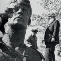 Доработка памятника С. Есенину, Рязань, 1975 г.