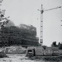 Строительство бетонной скульптуры «Солдат», Брестская крепость, 1970 г.
