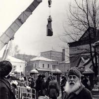 Установка памятника П. М. Третьякову на место, Москва, 1980 г.